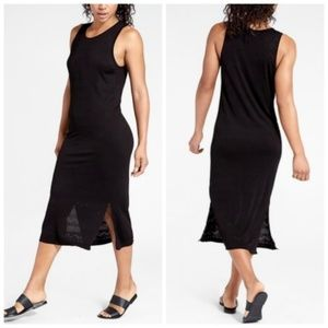 Athleta Black Eyelit Maxi Dress